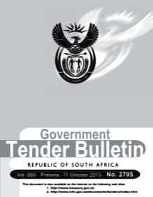Government tender bulletin