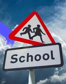 school-sign-text