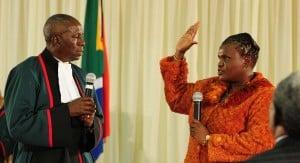 Communications minister Faith Muthambi