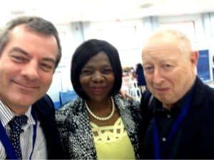 Cobus de Swart, former public protector Thuli Madonsela, and Corruption Watch executive director David Lewis.