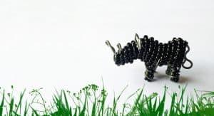 Beaded black rhino
