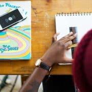 Pupil at school desk