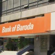 Bank of Baroda signage