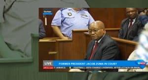 Jacob Zuma in Durban High Court April 2018