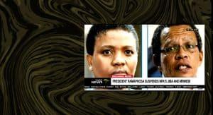 Nomgcobo Jiba, Lawrence Mrwebi suspended