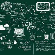 social media freehand illustration