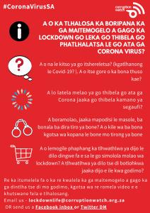 #LockdownLife Setswana poster