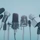 microphones at press briefing
